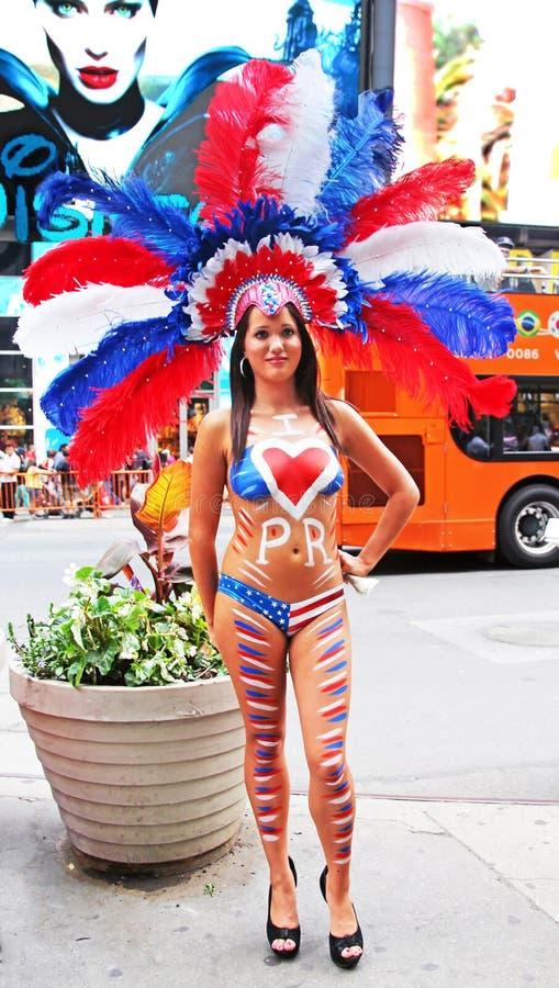 Παρέλαση ημέρας του Πουέρτο Ρίκο στοκ εικόνες