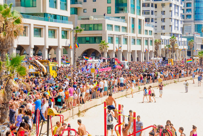 Παρέλαση 2015 υπερηφάνειας του Τελ Αβίβ στοκ εικόνα