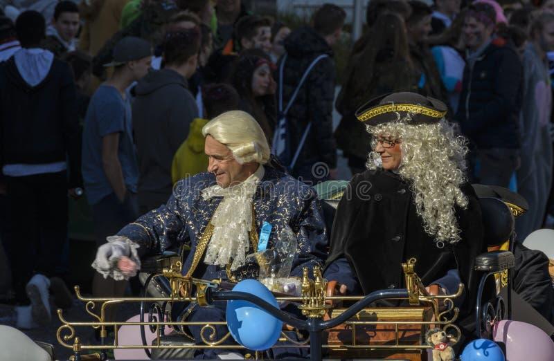 Παρέλαση Fasnacht μασκών σε Rastatt, Γερμανία στοκ εικόνες με δικαίωμα ελεύθερης χρήσης