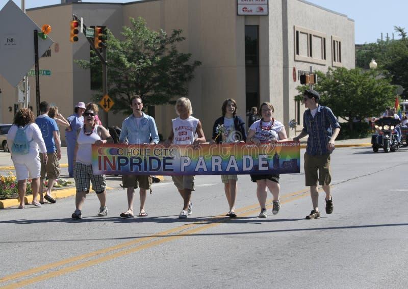 Παρέλαση INPride πόλεων κύκλων στοκ εικόνες με δικαίωμα ελεύθερης χρήσης