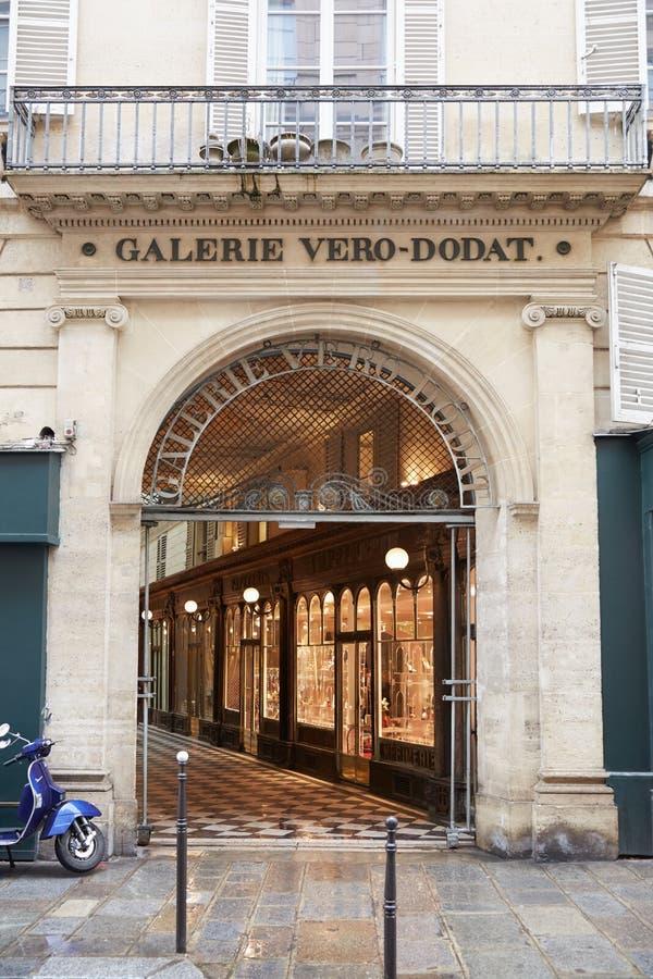 Παρίσι, είσοδος Galerie vero-Dodat στοκ εικόνες με δικαίωμα ελεύθερης χρήσης