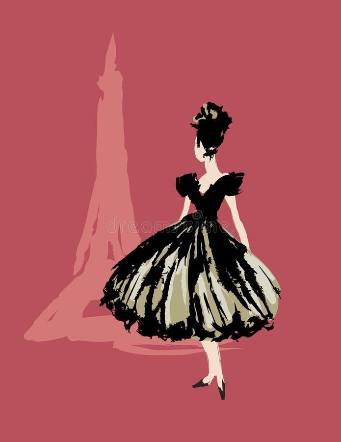 Παρίσι C'est κομψό! διανυσματική απεικόνιση