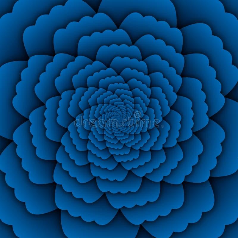 Παραίσθησης τέχνης αφηρημένο λουλουδιών mandala διακοσμητικό τετράγωνο υποβάθρου σχεδίων μπλε διανυσματική απεικόνιση