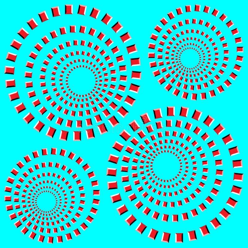 παραίσθηση οπτική διανυσματική απεικόνιση