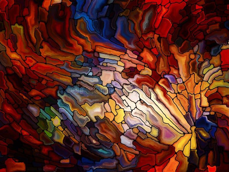 Παραίσθηση του λεκιασμένου γυαλιού διανυσματική απεικόνιση