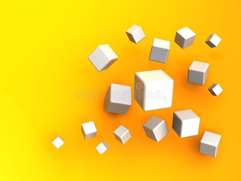 παραγμένη κύβοι εικόνα υπολογιστών ανασκόπησης διανυσματική απεικόνιση