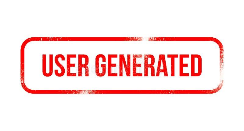 Παραγμένο χρήστης περιεχόμενο - κόκκινο λάστιχο grunge, γραμματόσημο απεικόνιση αποθεμάτων