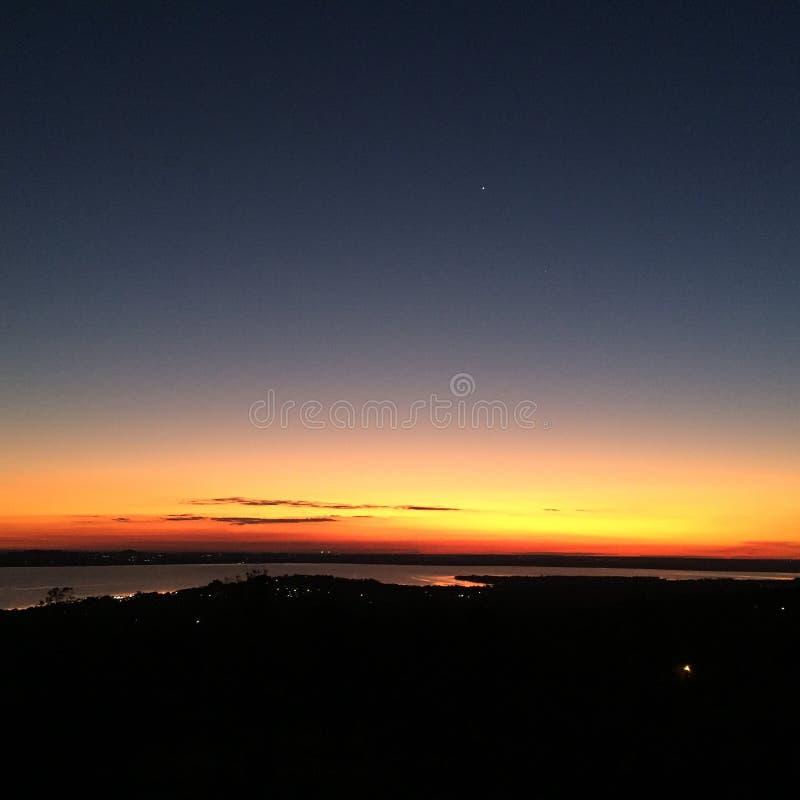 Παραγουανό ηλιοβασίλεμα στοκ φωτογραφία με δικαίωμα ελεύθερης χρήσης
