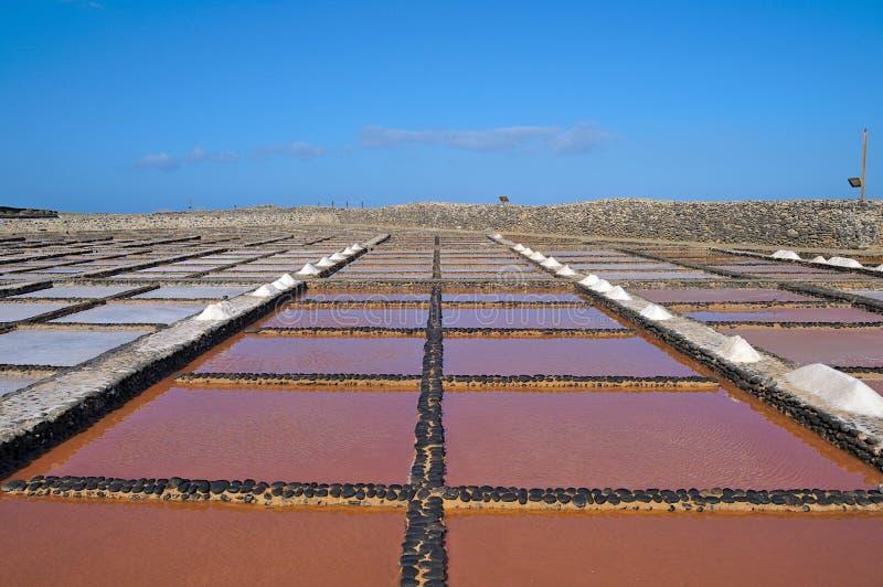Παραγωγή αλατιού στο Salinas del Carmen στο Fuerteventura στοκ φωτογραφίες με δικαίωμα ελεύθερης χρήσης