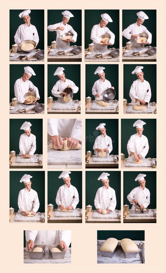 παραγωγή διαγραμμάτων ψωμιού στοκ εικόνα