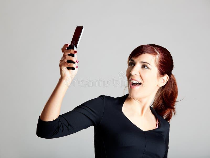 Παραγωγή ενός τηλεφωνήματος στοκ εικόνες