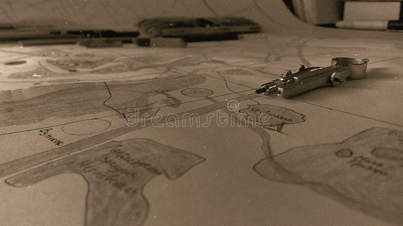 Παραγωγή ενός χάρτη Εποχή στρατόπεδων πλανίσματος στοκ εικόνες