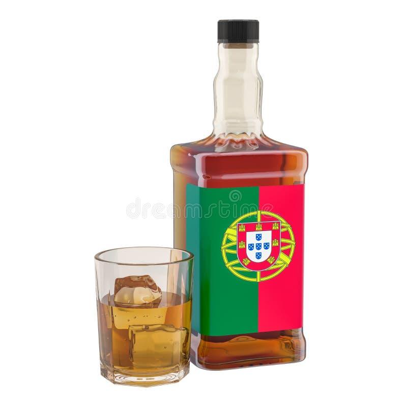 Παραγωγή και κατανάλωση ποτών οινοπνεύματος στην Πορτογαλία, έννοια r ελεύθερη απεικόνιση δικαιώματος