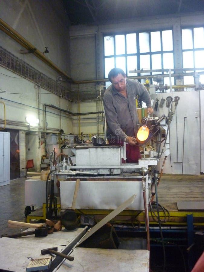 Παραγωγή του γυαλιού Murano στοκ εικόνα με δικαίωμα ελεύθερης χρήσης