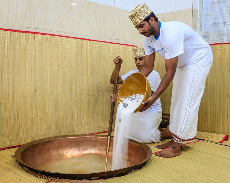 Παραγωγή του ομανικού halwa στοκ φωτογραφίες με δικαίωμα ελεύθερης χρήσης