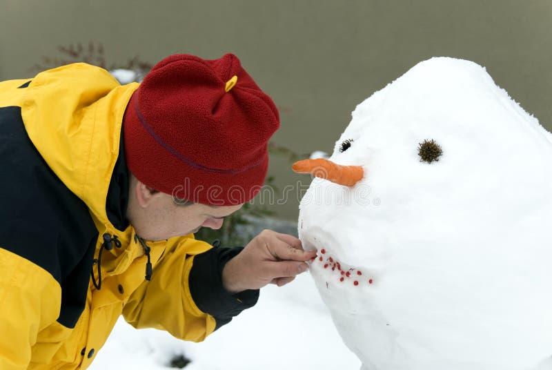 παραγωγή του χιονανθρώπου στοκ φωτογραφία