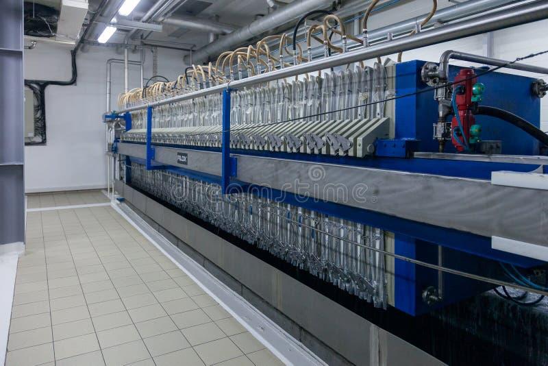 Παραγωγή των εξειδικευμένων βιομηχανικών εγκαταστάσεων λιπών και πρόσθετων ουσιών τροφίμων στοκ φωτογραφία
