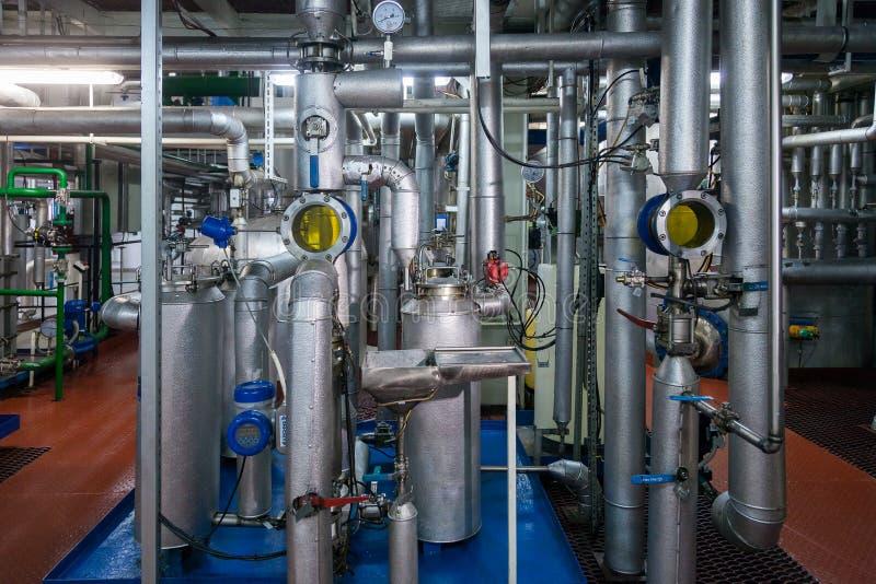 Παραγωγή των εξειδικευμένων βιομηχανικών εγκαταστάσεων λιπών και πρόσθετων ουσιών τροφίμων στοκ εικόνες