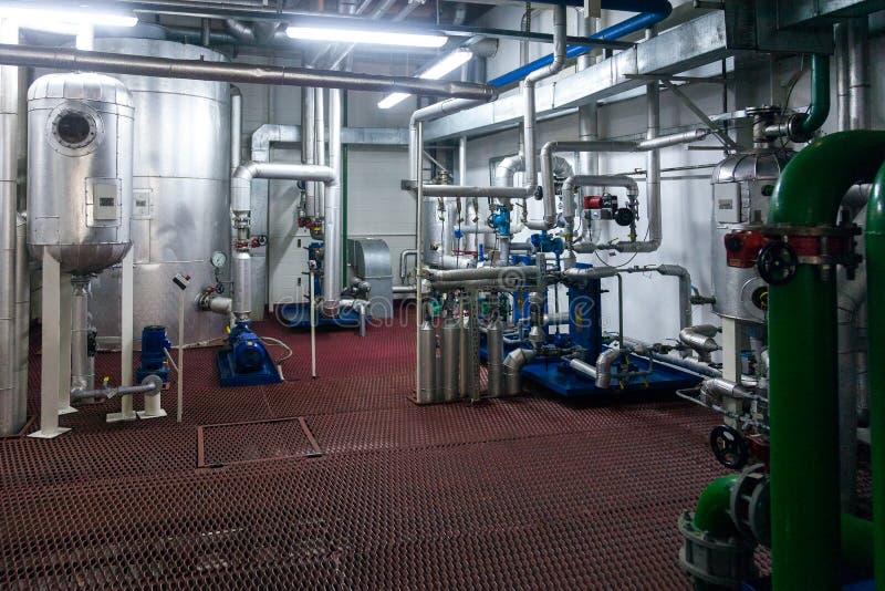 Παραγωγή των εξειδικευμένων βιομηχανικών εγκαταστάσεων λιπών και πρόσθετων ουσιών τροφίμων στοκ εικόνα