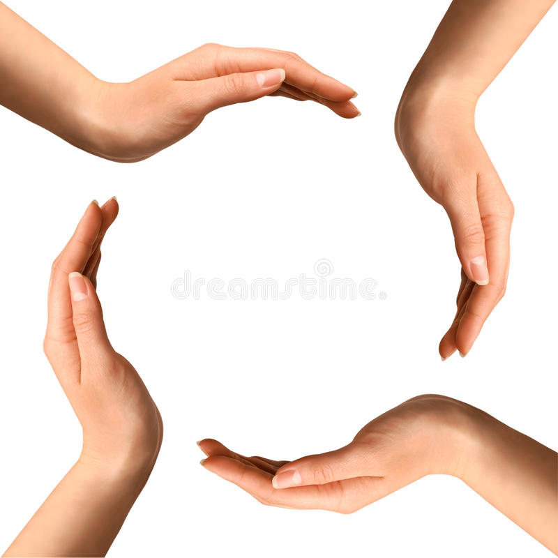 παραγωγή χεριών κύκλων στοκ εικόνα