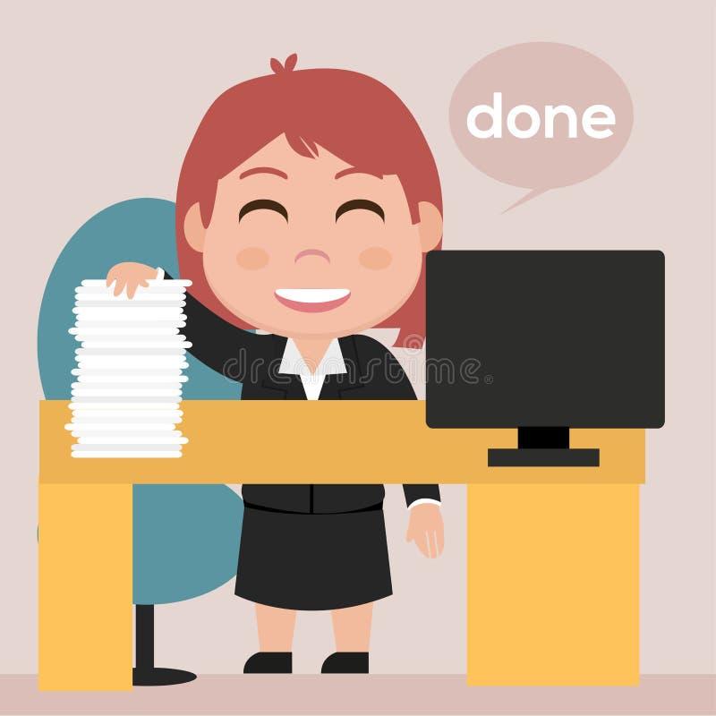 Παραγωγικό διάνυσμα επιχειρησιακών γυναικών ελεύθερη απεικόνιση δικαιώματος