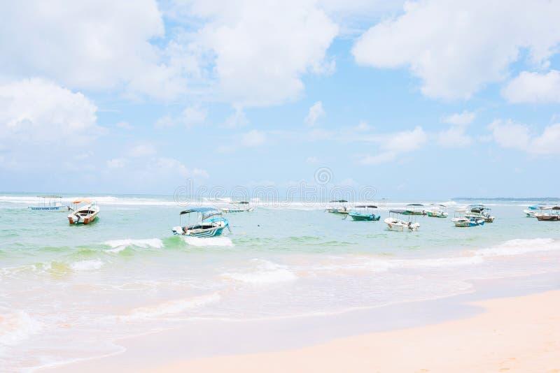 Παραδοσιακά αλιευτικά σκάφη της Σρι Λάνκα στοκ εικόνες