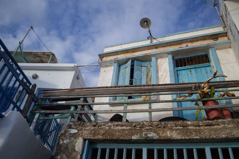 Παραδοσιακά ελληνικά σπίτια ψαροχώρι σε Klima, Μήλος, Cyclad στοκ φωτογραφία με δικαίωμα ελεύθερης χρήσης