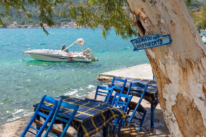 Παραδοσιακά παλαιά ελληνικά αλιευτικά σκάφη Το σημάδι διαβάζει: οι αιτήσεις όχι Φε στοκ φωτογραφία