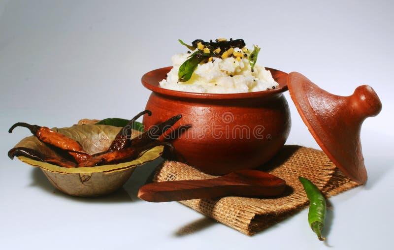Παραδοσιακά σπιτικά νότια ινδικά τρόφιμα ρυζιού στάρπης στοκ εικόνες με δικαίωμα ελεύθερης χρήσης