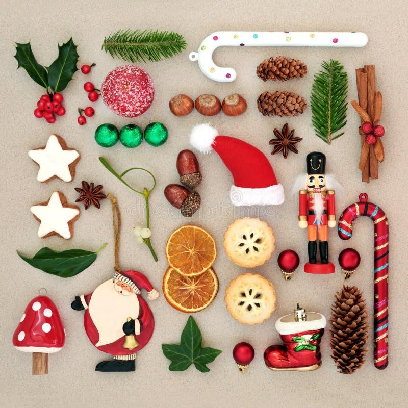 Παραδοσιακά σύμβολα της επιλογής Χριστουγέννων στοκ φωτογραφία με δικαίωμα ελεύθερης χρήσης