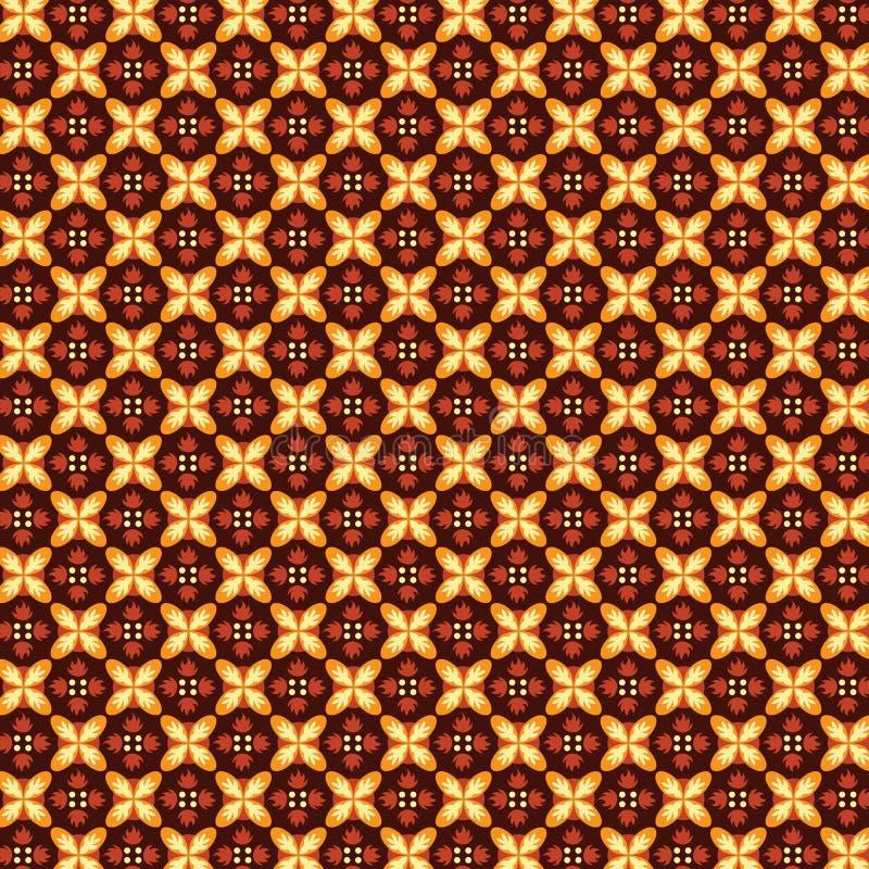 Παραδοσιακά σύσταση μπατίκ και αγαθό υποβάθρου για την τυπωμένη ύλη διανυσματική απεικόνιση