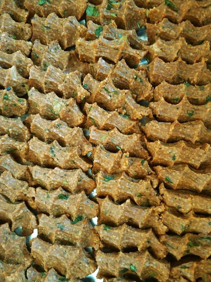 Παραδοσιακά τουρκικά τρόφιμα cig kofte στοκ φωτογραφία με δικαίωμα ελεύθερης χρήσης