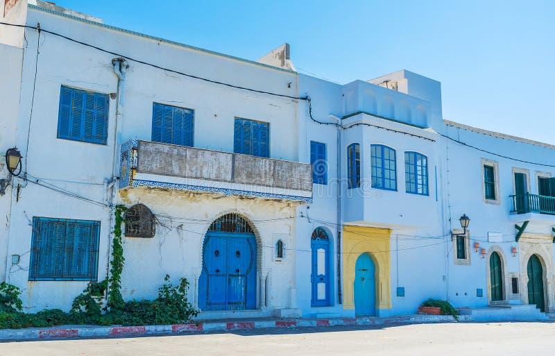 Παραδοσιακά τυνησιακά σπίτια, Mahdia στοκ φωτογραφίες