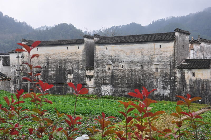 Παραδοσιακή αρχιτεκτονική ύφους Hui σε Wuyuan κομητεία-Jiangxi επαρχία-Κίνα στοκ εικόνα με δικαίωμα ελεύθερης χρήσης