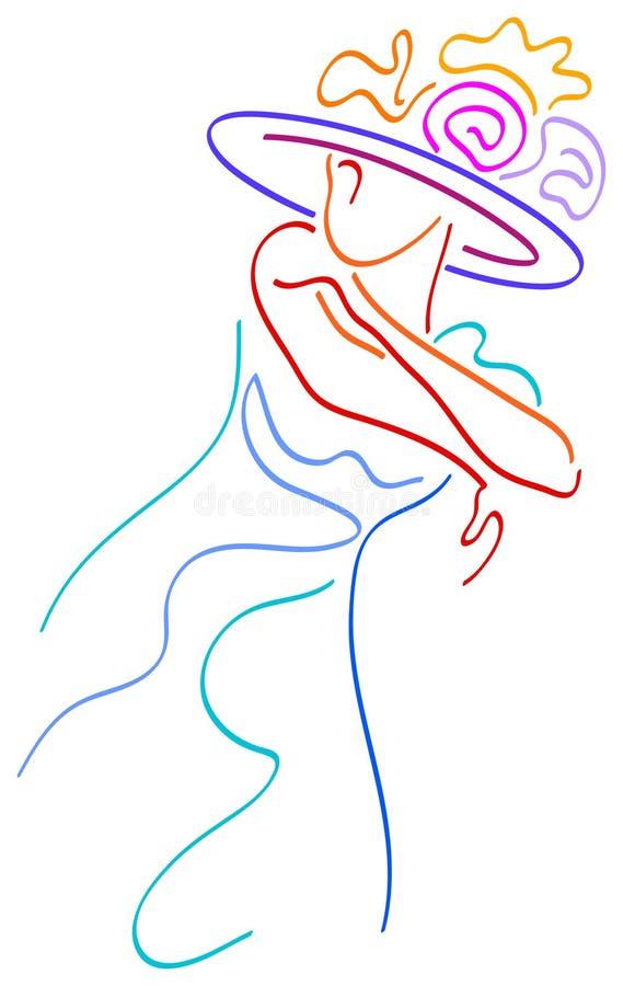παραδοσιακή γυναίκα διανυσματική απεικόνιση