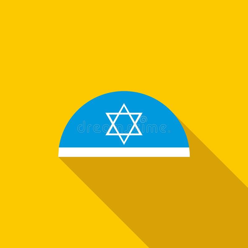 Παραδοσιακή εβραϊκή ΚΑΠ με το εικονίδιο αστεριών του Δαυίδ απεικόνιση αποθεμάτων