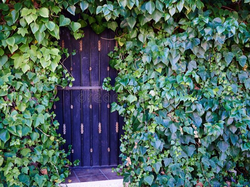 Παραδοσιακή κλασική περίκομψη πύλη Ισπανία κήπων επεξεργασμένου σιδήρου στοκ εικόνες