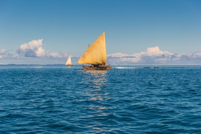 Παραδοσιακή πιρόγα αλιείας, Μαδαγασκάρη στοκ φωτογραφία με δικαίωμα ελεύθερης χρήσης