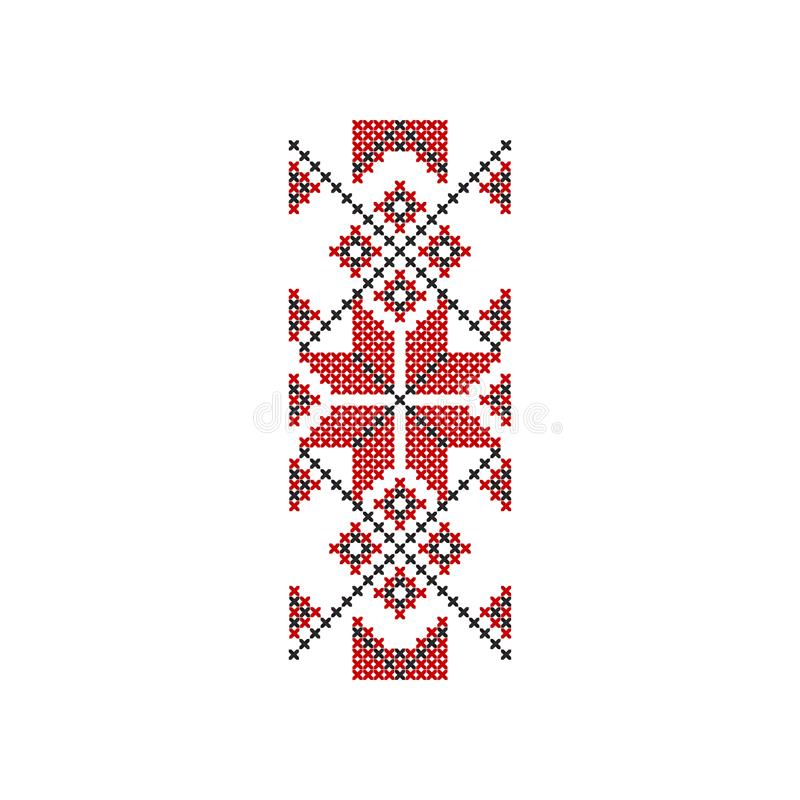 Παραδοσιακή ρουμανική κεντητική εθνικό πρότυπο Διακοσμητικό επίπεδο διανυσματικό στοιχείο για την κάλυψη κλωστοϋφαντουργικών προϊ απεικόνιση αποθεμάτων
