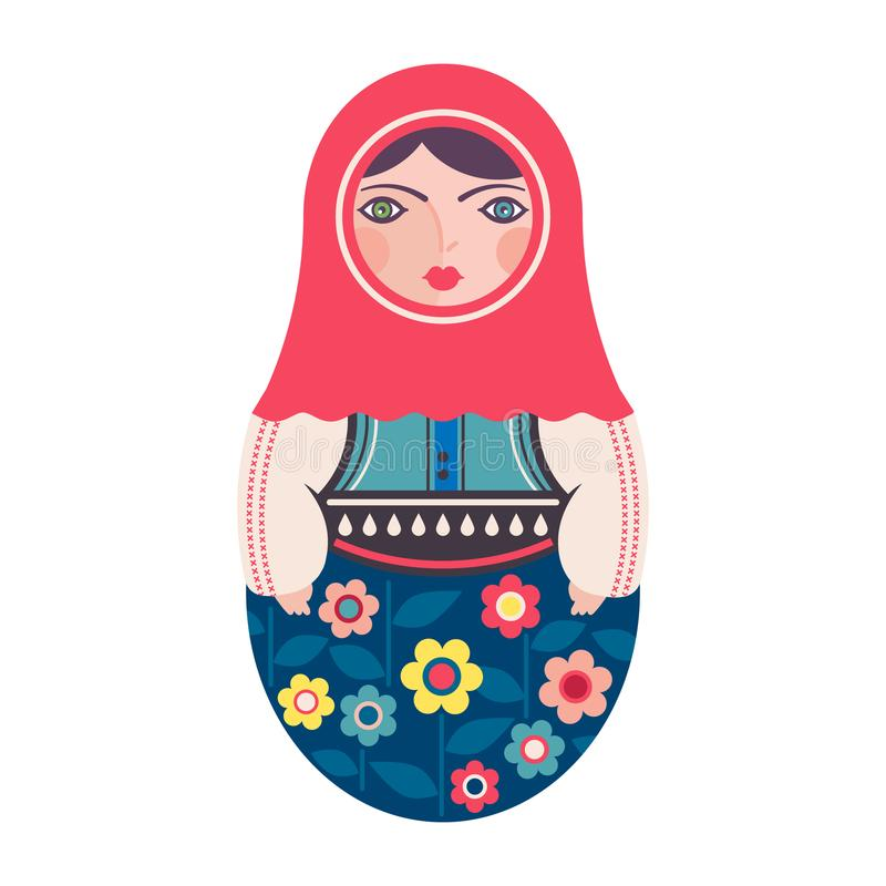 Παραδοσιακή ρωσική να τοποθετηθεί Matryoshka κούκλα απεικόνιση αποθεμάτων