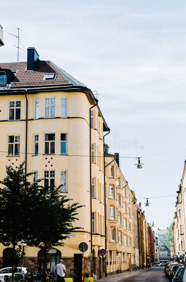 Παραδοσιακή σουηδική αρχιτεκτονική στη Στοκχόλμη, Σουηδία στοκ φωτογραφίες με δικαίωμα ελεύθερης χρήσης