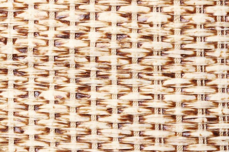 Παραδοσιακή handcraft ψάθινη επιφάνεια σύστασης υποβάθρου φύσης σχεδίων ύφους ύφανσης ταϊλανδική για το υλικό επίπλων Μπαμπού που στοκ εικόνες με δικαίωμα ελεύθερης χρήσης