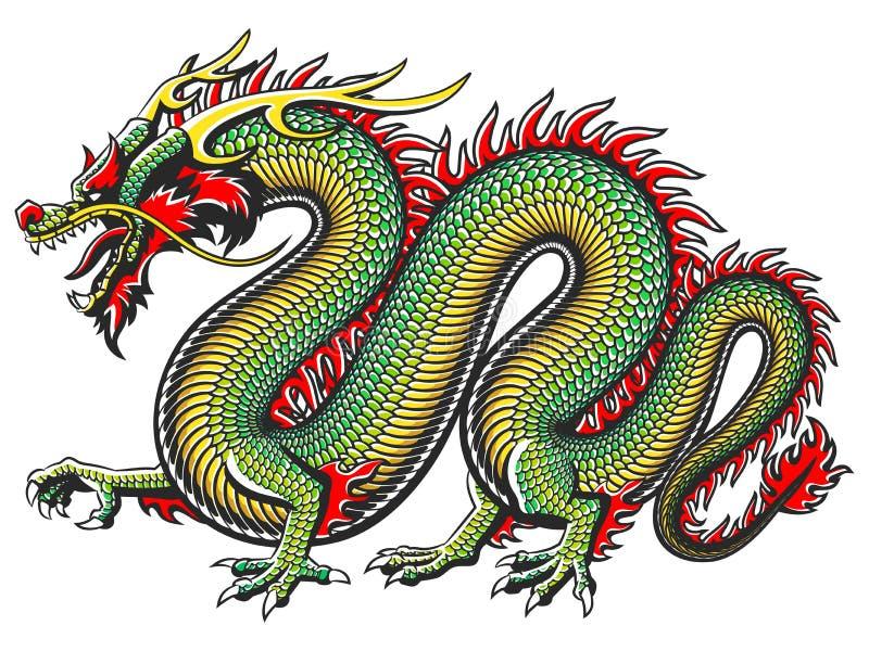 Παραδοσιακός ασιατικός δράκος απεικόνιση αποθεμάτων
