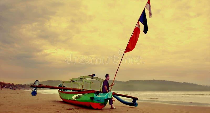 Παραδοσιακό αλιευτικό σκάφος Pangandaran στοκ φωτογραφία με δικαίωμα ελεύθερης χρήσης