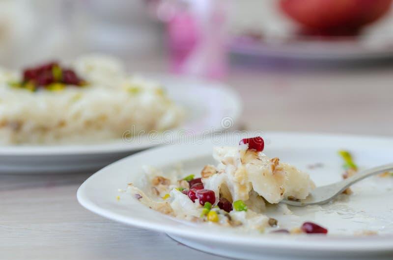 Παραδοσιακό επιδόρπιο Gullac Ramadan στοκ εικόνες