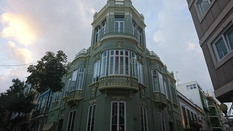 Παραδοσιακό ισπανικό κτήριο στοκ εικόνα