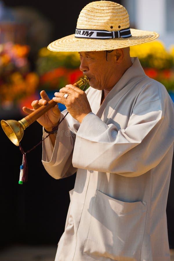 Παραδοσιακό κορεατικό όργανο Taepyeongso καλάμων στοκ φωτογραφίες