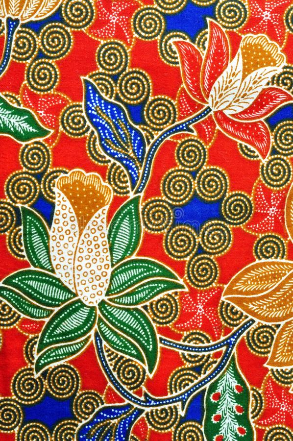 Παραδοσιακό σχέδιο μπατίκ στοκ εικόνες με δικαίωμα ελεύθερης χρήσης