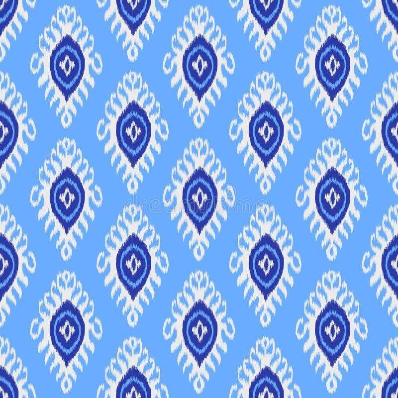 Παραδοσιακό σχέδιο ikat Άνευ ραφής γεωμετρικό σχέδιο, βασισμένο στο ύφος υφάσματος ikkat απεικόνιση αποθεμάτων