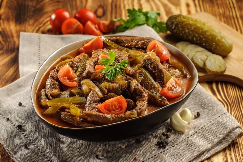 Παραδοσιακό Tatar azu πιάτων στοκ εικόνα με δικαίωμα ελεύθερης χρήσης